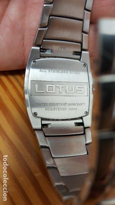 Relojes - Lotus: RELOJ LOTUS QUARTZ 15314 04. CORREA 15313. RELOJ Y CORREA DE ACERO ORIGINALES. LEER DESCRIPCIÓN. - Foto 3 - 210263505