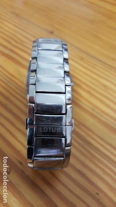 Relojes - Lotus: RELOJ LOTUS QUARTZ 15314 04. CORREA 15313. RELOJ Y CORREA DE ACERO ORIGINALES. LEER DESCRIPCIÓN. - Foto 5 - 210263505