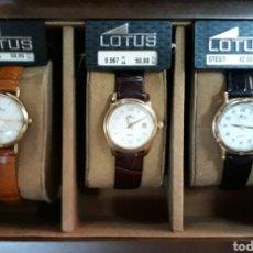 Relojes - Lotus: LOTE 3 RELOJES LOTUS + EXPOSITOR. Lote 181461653