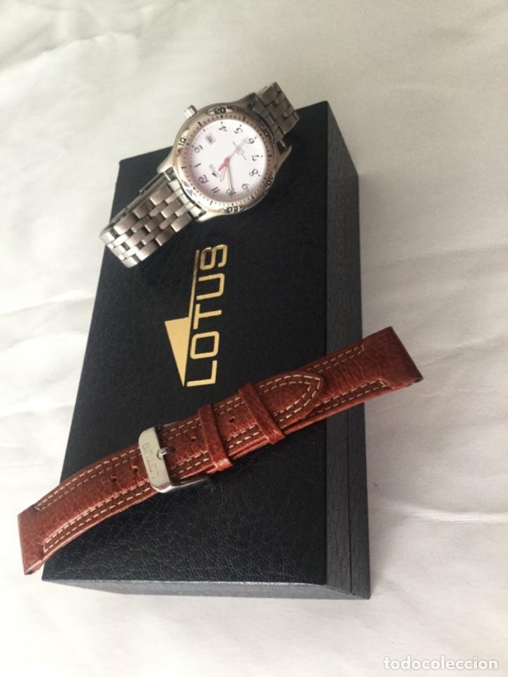 Relojes - Lotus: Reloj Lotus caballero, con cadena y correa de repuesto Tipo de cristal del dial: cristal mineral - Foto 2 - 182104385
