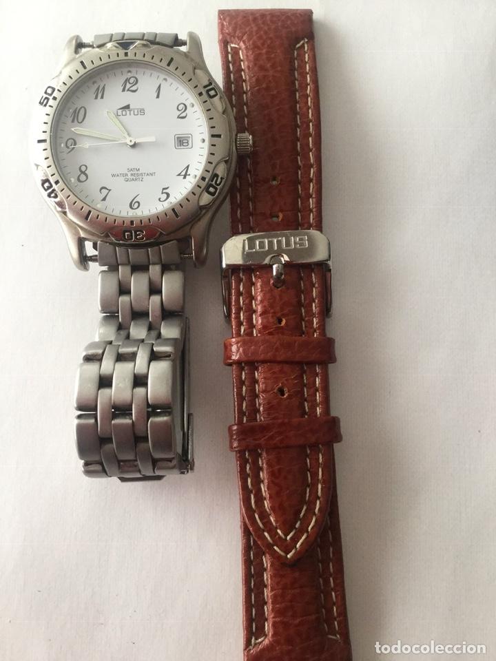 Relojes - Lotus: Reloj Lotus caballero, con cadena y correa de repuesto Tipo de cristal del dial: cristal mineral - Foto 3 - 182104385