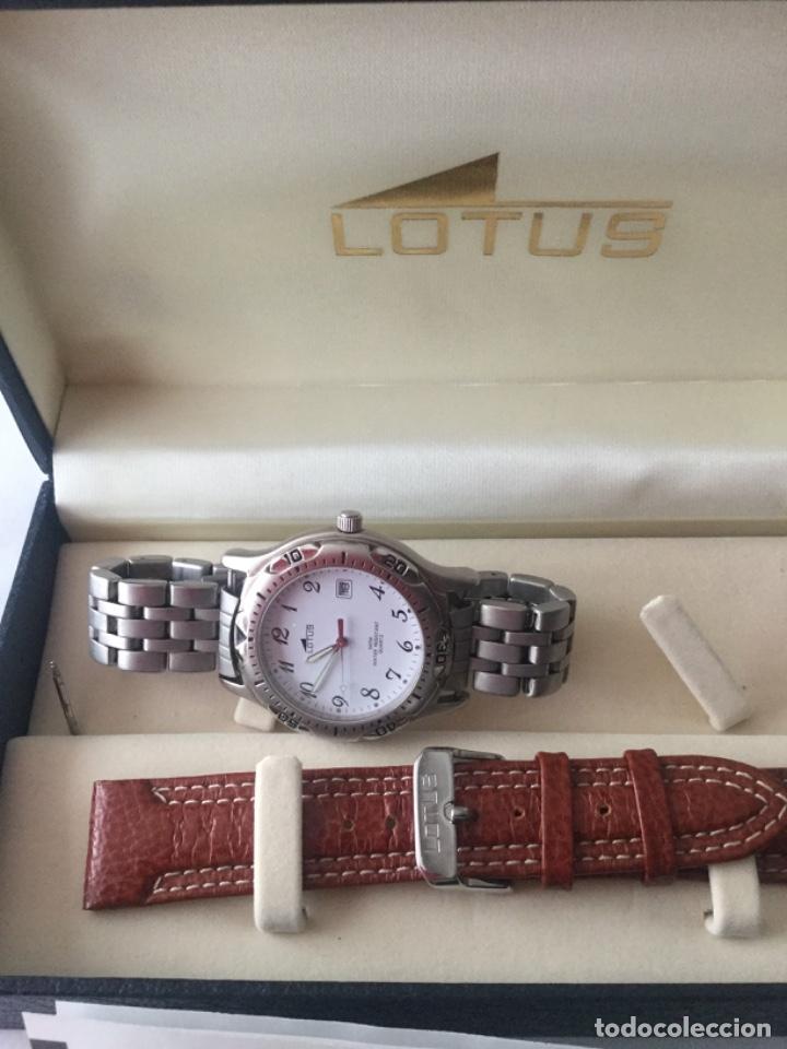 Relojes - Lotus: Reloj Lotus caballero, con cadena y correa de repuesto Tipo de cristal del dial: cristal mineral - Foto 5 - 182104385