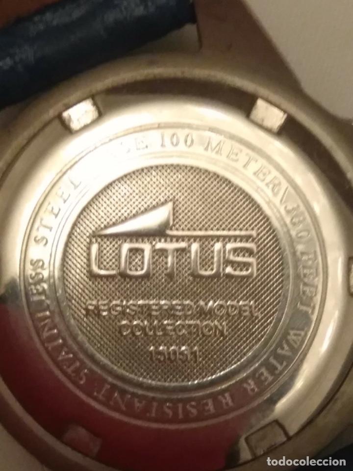 Relojes - Lotus: Reloj Lotus caballero, con cadena y correa de repuesto Tipo de cristal del dial: cristal mineral - Foto 7 - 182104385