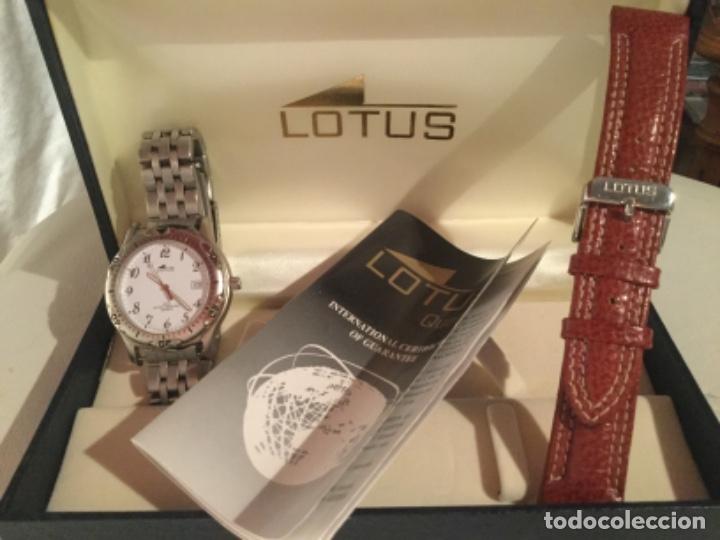 Relojes - Lotus: Reloj Lotus caballero, con cadena y correa de repuesto Tipo de cristal del dial: cristal mineral - Foto 9 - 182104385