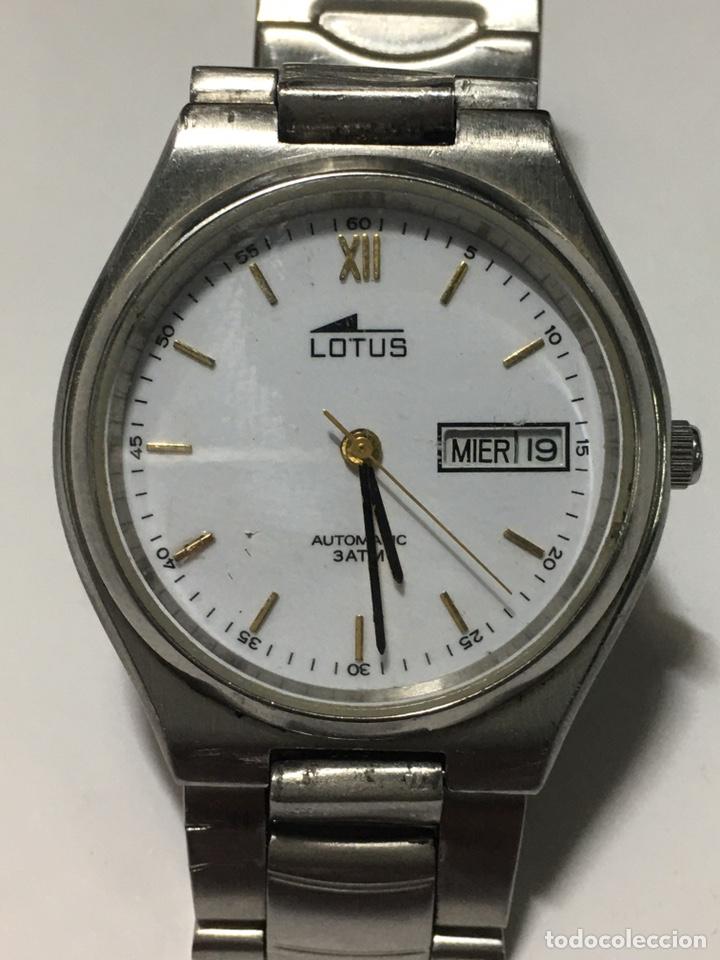 RELOJ LOTUS AUTOMÁTICO 3 ATM ACERO COMPLETO Y EN FUNCIONAMIENTO (Relojes - Relojes Actuales - Lotus)