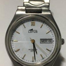 Relojes - Lotus: RELOJ LOTUS AUTOMÁTICO 3 ATM ACERO COMPLETO Y EN FUNCIONAMIENTO. Lote 194066383