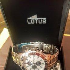 Relojes - Lotus: RELOJ LOTUS CRONOGRAFO CALENDARIO NUEVO SIN ESTRENAR FUNCIONA PERFECTAMENTE DIÁMETRO 45MILIMETROS. Lote 194580808