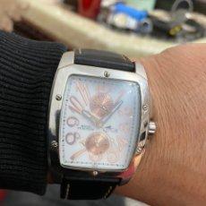 Relojes - Lotus: RELOJ CABALLERO LOTUS DE CUARZO MULTIFUNCIÓN DE ACERO CUADRADO, CORREA DE CUERO ORIGINAL. Lote 194743542