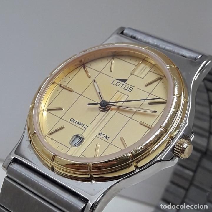 RELOJ LOTUS BICOLOR AÑOS 80 TAMAÑO CADETE Y NUEVO A ESTRENAR (Relojes - Relojes Actuales - Lotus)