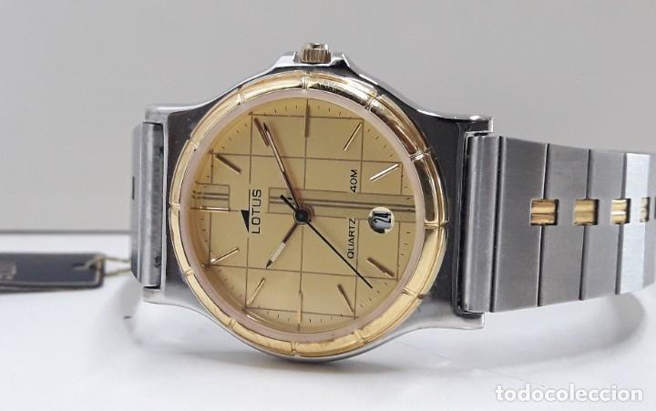 Relojes - Lotus: RELOJ LOTUS BICOLOR AÑOS 80 TAMAÑO CADETE Y NUEVO A ESTRENAR - Foto 2 - 195112463