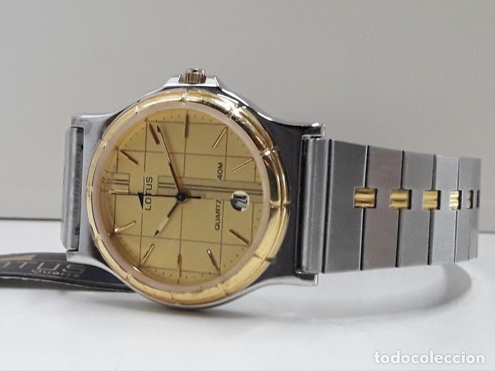 Relojes - Lotus: RELOJ LOTUS BICOLOR AÑOS 80 TAMAÑO CADETE Y NUEVO A ESTRENAR - Foto 3 - 195112463