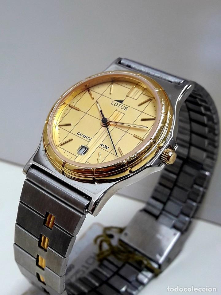 Relojes - Lotus: RELOJ LOTUS BICOLOR AÑOS 80 TAMAÑO CADETE Y NUEVO A ESTRENAR - Foto 4 - 195112463