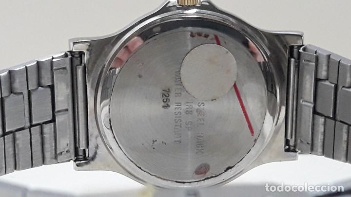 Relojes - Lotus: RELOJ LOTUS BICOLOR AÑOS 80 TAMAÑO CADETE Y NUEVO A ESTRENAR - Foto 5 - 195112463