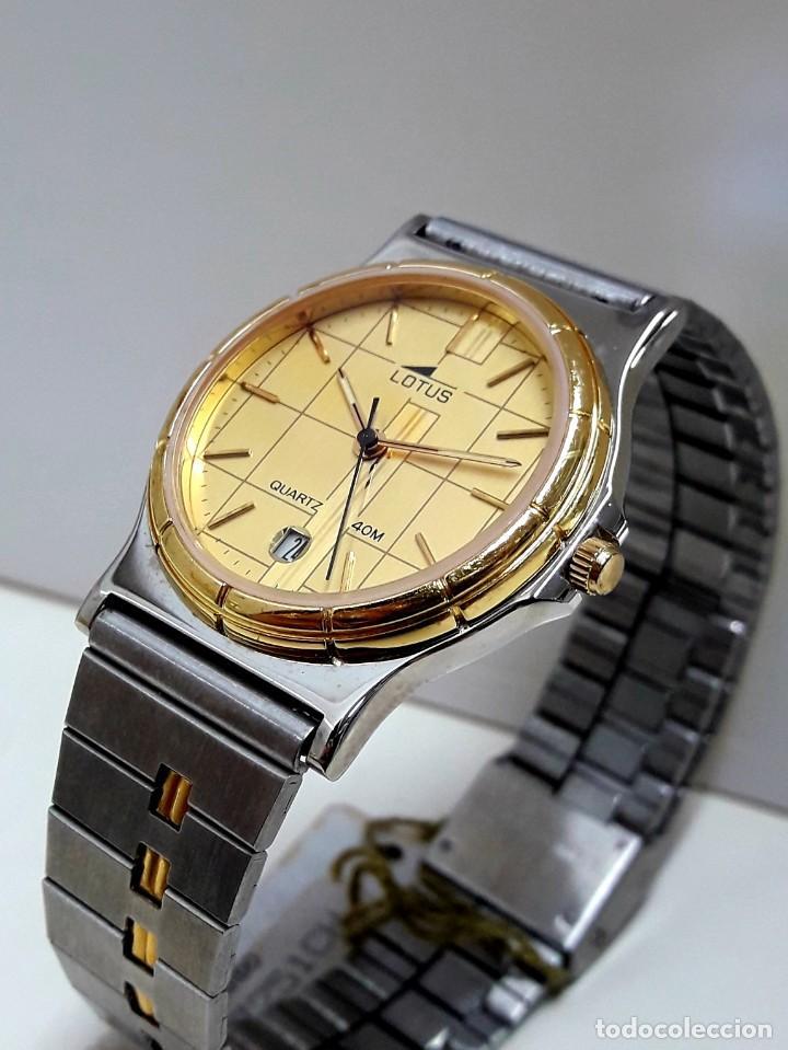 Relojes - Lotus: RELOJ LOTUS BICOLOR AÑOS 80 TAMAÑO CADETE Y NUEVO A ESTRENAR - Foto 6 - 195112463
