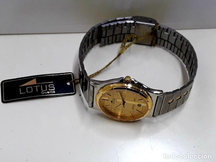 Relojes - Lotus: RELOJ LOTUS BICOLOR AÑOS 80 TAMAÑO CADETE Y NUEVO A ESTRENAR - Foto 8 - 195112463