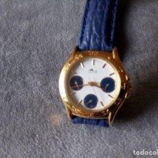 Relojes - Lotus: RELOJ LOTUS AÑOS 90 CON ESFERAS ADICIONALES, CORREA AZUL DE CUERO. Lote 195404252