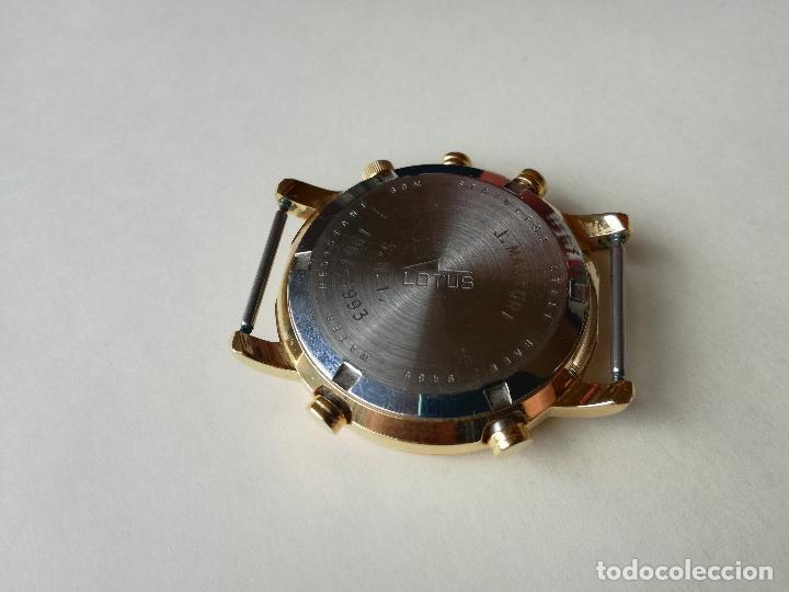 Relojes - Lotus: RELOJ PARA HOMBRE LOTUS 9485-P CHRONOGRAPH ALARM - ESFERA ROJA. FUNCIONANDO CORRECTAMENTE - Foto 5 - 198537983