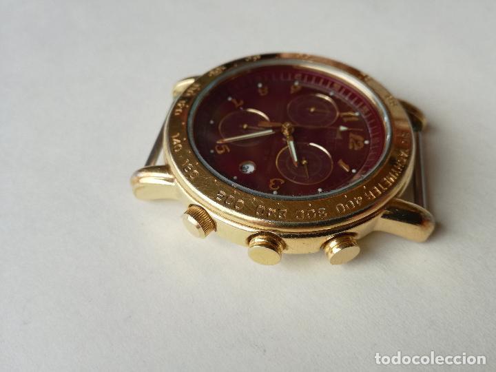 RELOJ PARA HOMBRE LOTUS 9485-P CHRONOGRAPH ALARM - ESFERA ROJA. FUNCIONANDO CORRECTAMENTE (Relojes - Relojes Actuales - Lotus)