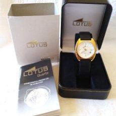 Relojes - Lotus: RELOJ LOTUS VINTAGE, CALENDARIO, PLACADO ORO, BUEN ESTADO COMO NUEVO, CON ESTUCHE.. Lote 198785390