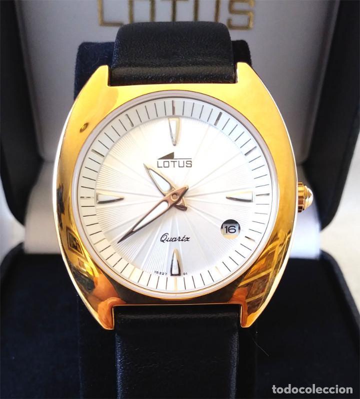 Relojes - Lotus: Reloj Lotus Vintage, Calendario, placado Oro, buen estado como nuevo, con estuche. - Foto 2 - 198785390
