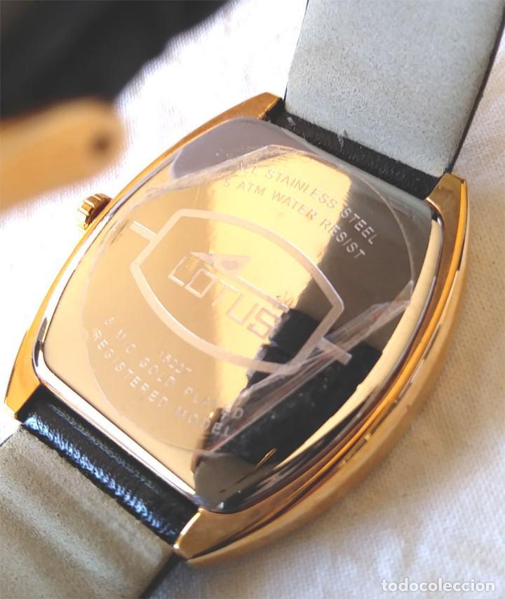 Relojes - Lotus: Reloj Lotus Vintage, Calendario, placado Oro, buen estado como nuevo, con estuche. - Foto 5 - 198785390