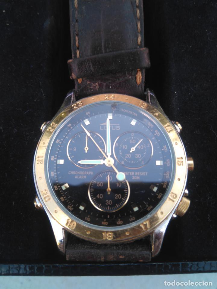 Relojes - Lotus: RELOJ LOTUS - MOD.9475 - ACERO CHAPADO ORO 5 MICRAS - CRONOGRAFO - CORREA CUERO - Foto 2 - 205812291
