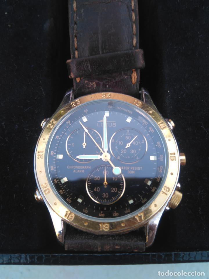 Relojes - Lotus: RELOJ LOTUS - MOD.9475 - ACERO CHAPADO ORO 5 MICRAS - CRONOGRAFO - CORREA CUERO - Foto 3 - 205812291