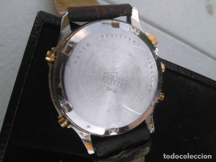 Relojes - Lotus: RELOJ LOTUS - MOD.9475 - ACERO CHAPADO ORO 5 MICRAS - CRONOGRAFO - CORREA CUERO - Foto 4 - 205812291