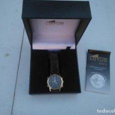 Relojes - Lotus: RELOJ LOTUS - MOD.9475 - ACERO CHAPADO ORO 5 MICRAS - CRONOGRAFO - CORREA CUERO. Lote 205812291