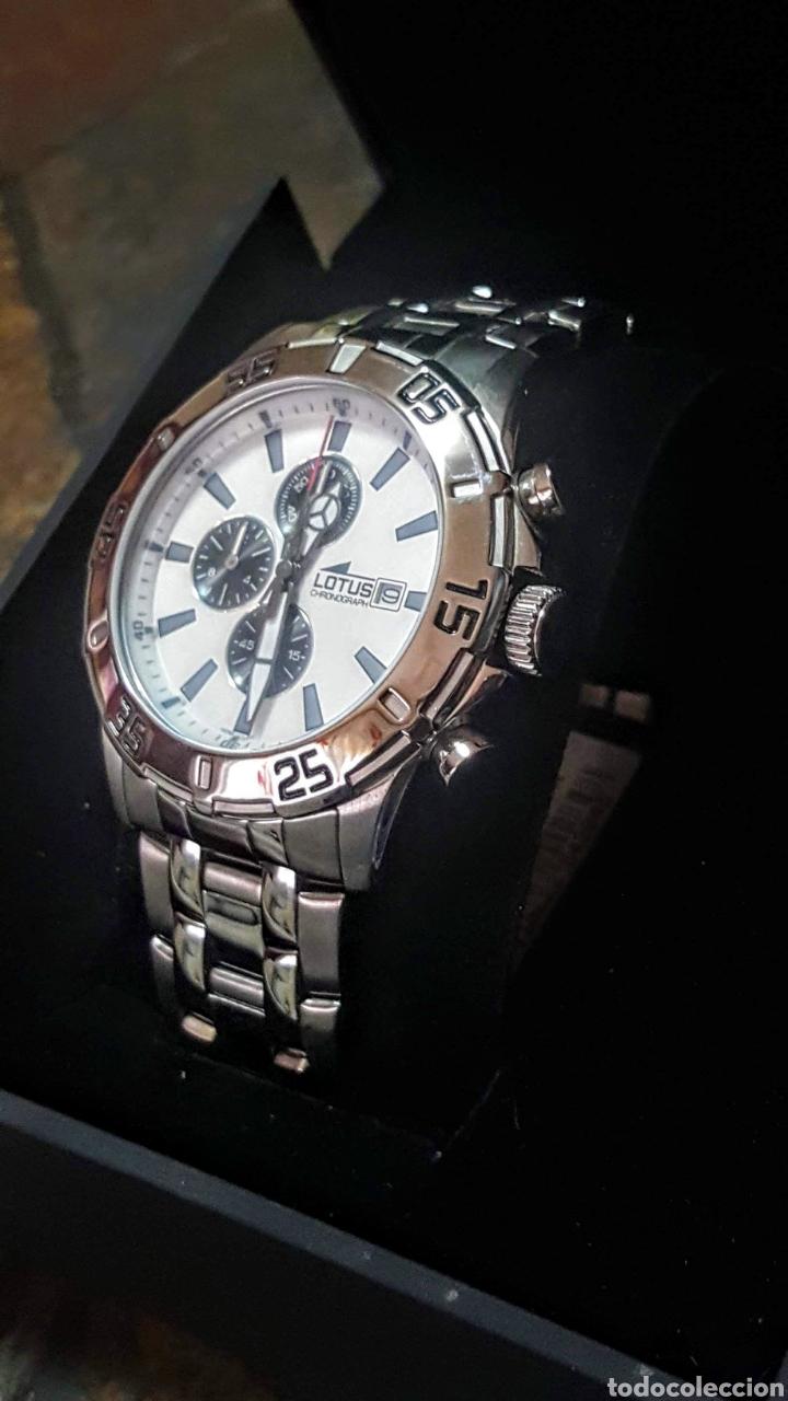 Relojes - Lotus: Reloj Lotus CRONÓGRAFO CALENDARIO WATER RESISTENTE 50MTROS CUARZO NUEVO SIN ESTRENAR CON SU CAJA DE - Foto 2 - 206177978
