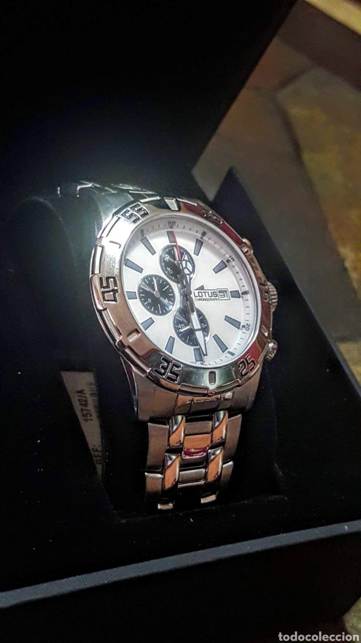 Relojes - Lotus: Reloj Lotus CRONÓGRAFO CALENDARIO WATER RESISTENTE 50MTROS CUARZO NUEVO SIN ESTRENAR CON SU CAJA DE - Foto 3 - 206177978