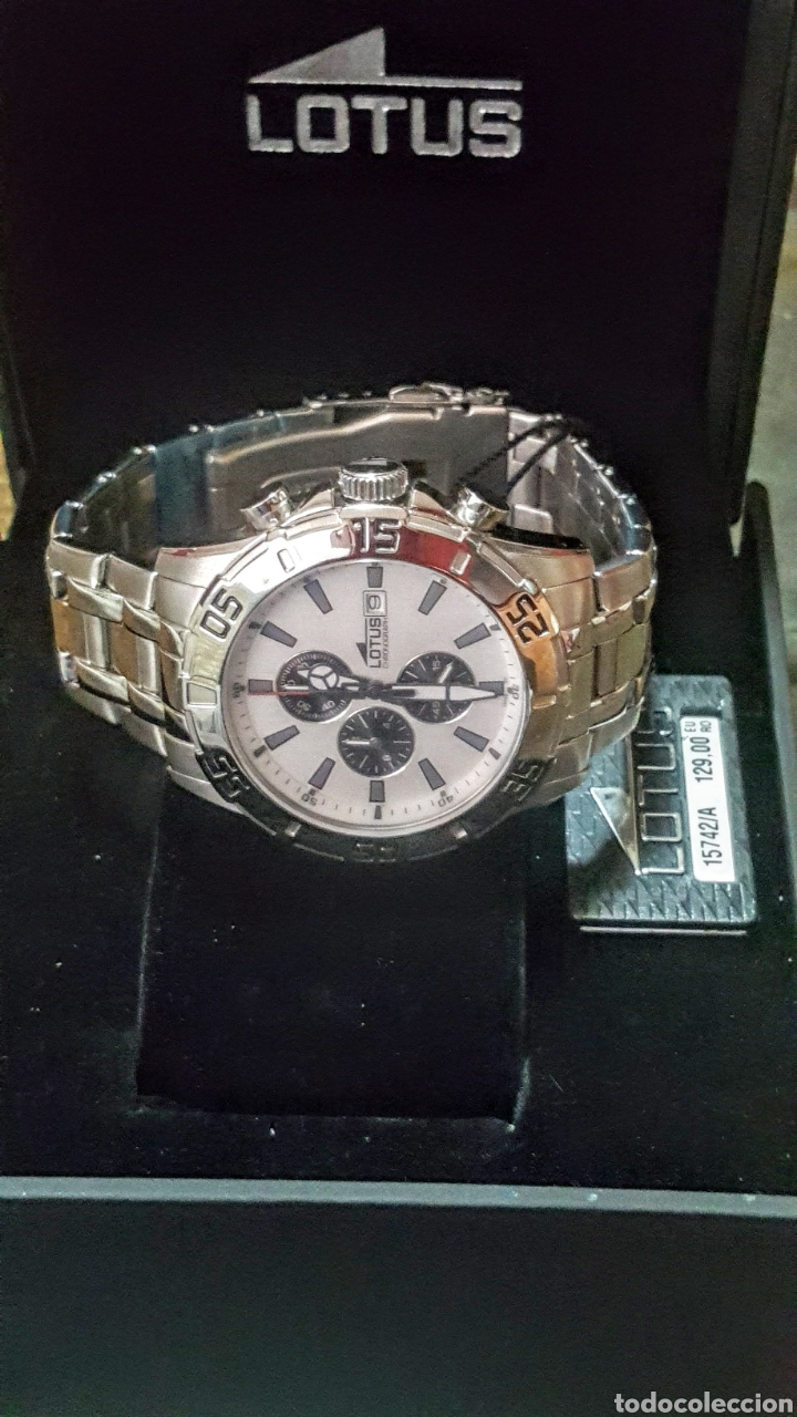 Relojes - Lotus: Reloj Lotus CRONÓGRAFO CALENDARIO WATER RESISTENTE 50MTROS CUARZO NUEVO SIN ESTRENAR CON SU CAJA DE - Foto 4 - 206177978