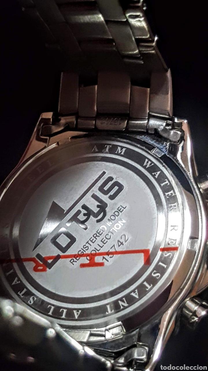 Relojes - Lotus: Reloj Lotus CRONÓGRAFO CALENDARIO WATER RESISTENTE 50MTROS CUARZO NUEVO SIN ESTRENAR CON SU CAJA DE - Foto 5 - 206177978