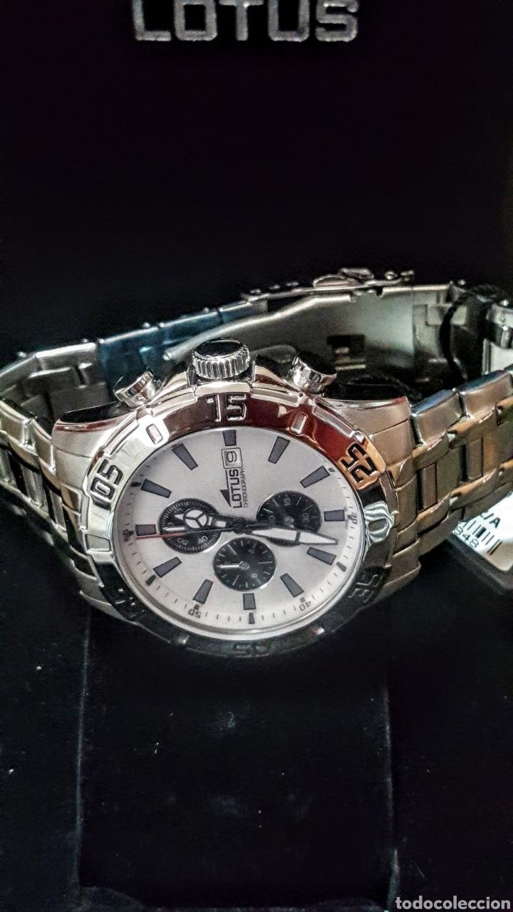 Relojes - Lotus: Reloj Lotus CRONÓGRAFO CALENDARIO WATER RESISTENTE 50MTROS CUARZO NUEVO SIN ESTRENAR CON SU CAJA DE - Foto 6 - 206177978