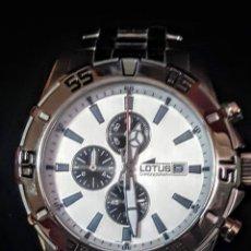 Relojes - Lotus: RELOJ LOTUS CRONÓGRAFO CALENDARIO WATER RESISTENTE 50MTROS CUARZO NUEVO SIN ESTRENAR CON SU CAJA DE. Lote 206177978