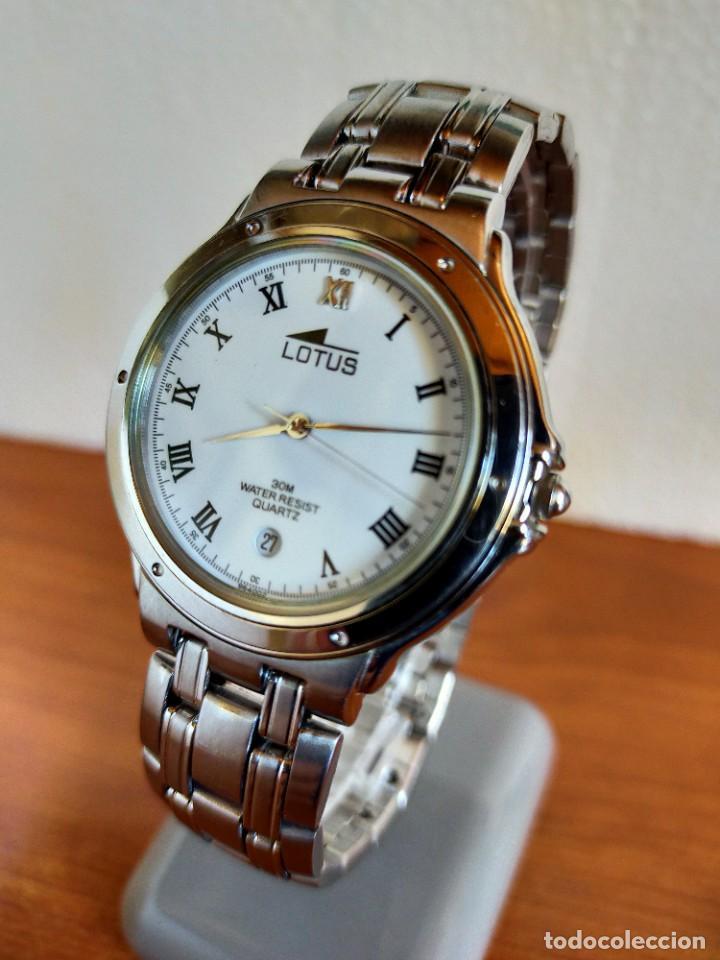 Relojes - Lotus: Reloj caballero de cuarzo LOTUS en acero con calendario a las seis horas, correa de acero original. - Foto 2 - 213945365