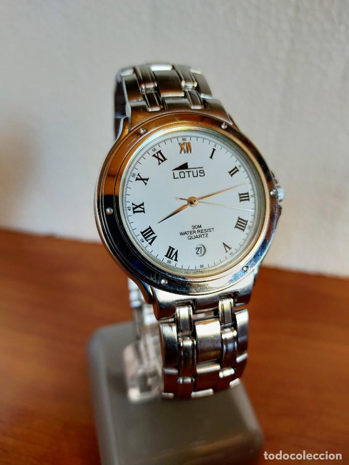 Relojes - Lotus: Reloj caballero de cuarzo LOTUS en acero con calendario a las seis horas, correa de acero original. - Foto 4 - 213945365