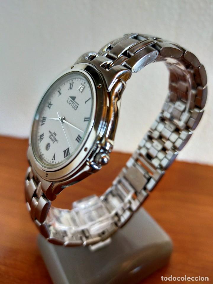 Relojes - Lotus: Reloj caballero de cuarzo LOTUS en acero con calendario a las seis horas, correa de acero original. - Foto 7 - 213945365
