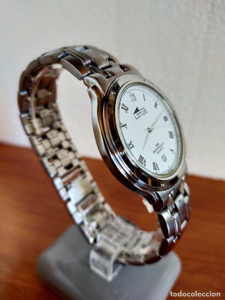 Relojes - Lotus: Reloj caballero de cuarzo LOTUS en acero con calendario a las seis horas, correa de acero original. - Foto 8 - 213945365