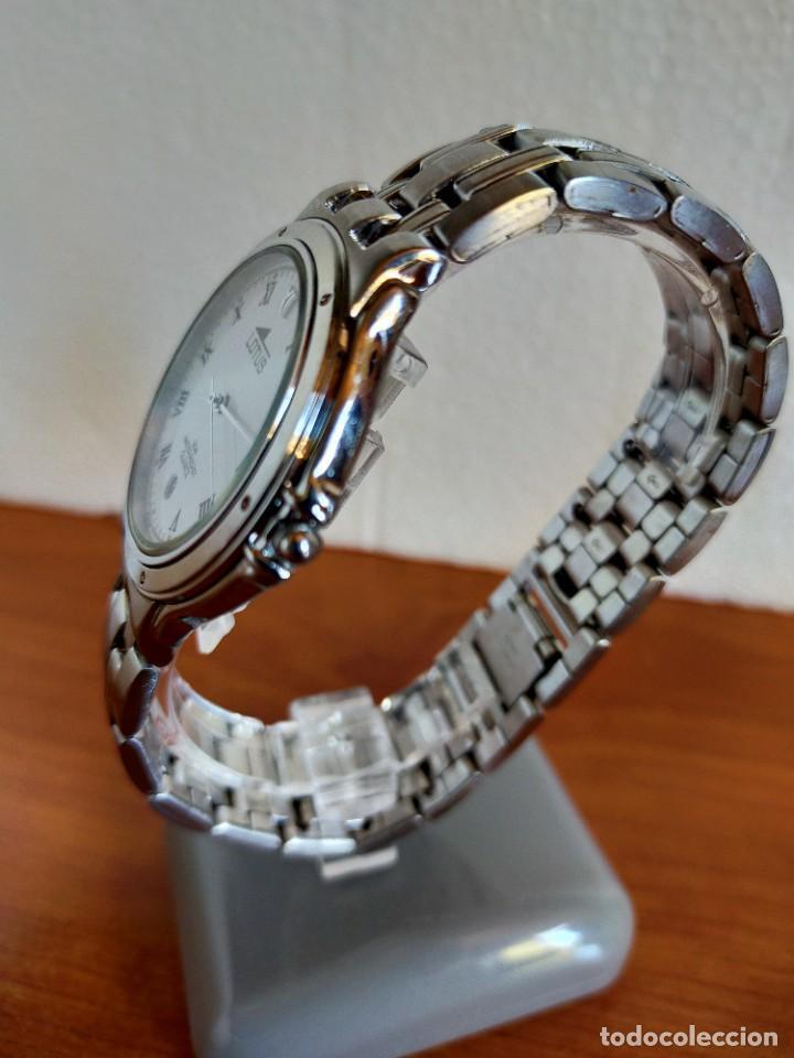 Relojes - Lotus: Reloj caballero de cuarzo LOTUS en acero con calendario a las seis horas, correa de acero original. - Foto 9 - 213945365
