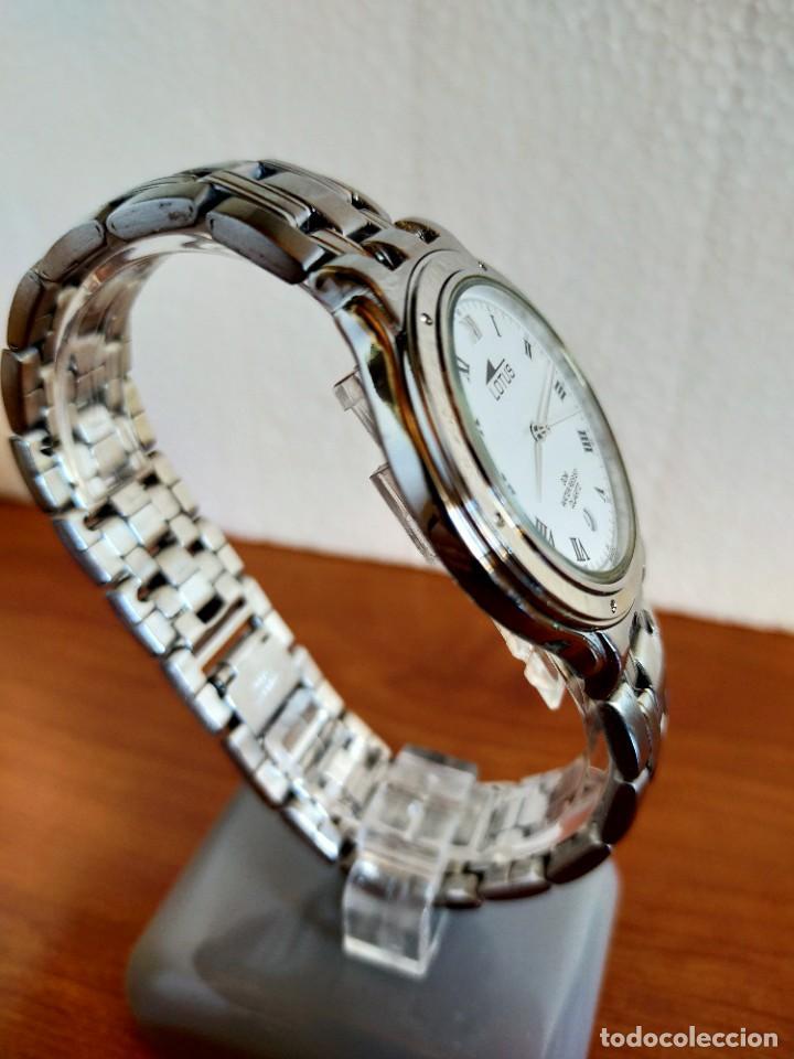 Relojes - Lotus: Reloj caballero de cuarzo LOTUS en acero con calendario a las seis horas, correa de acero original. - Foto 11 - 213945365