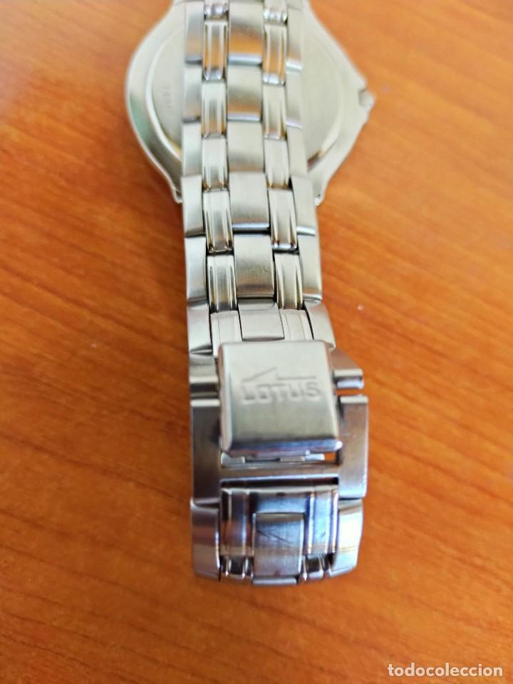 Relojes - Lotus: Reloj caballero de cuarzo LOTUS en acero con calendario a las seis horas, correa de acero original. - Foto 14 - 213945365