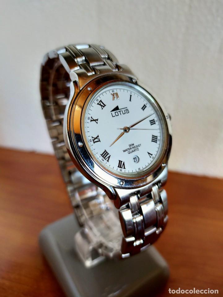 Relojes - Lotus: Reloj caballero de cuarzo LOTUS en acero con calendario a las seis horas, correa de acero original. - Foto 17 - 213945365