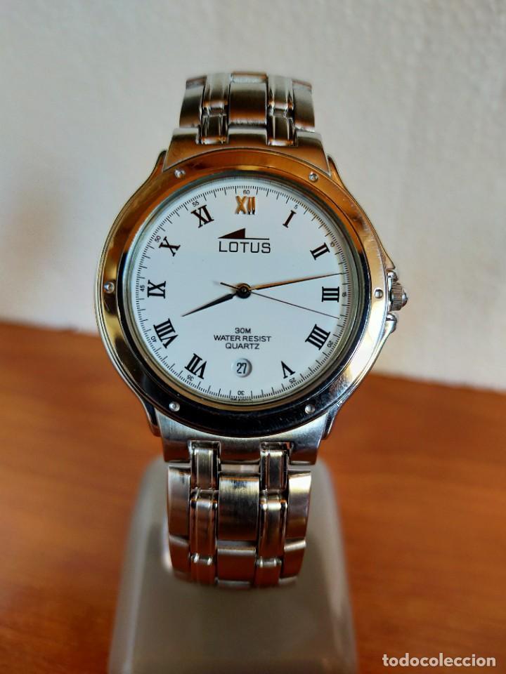 Relojes - Lotus: Reloj caballero de cuarzo LOTUS en acero con calendario a las seis horas, correa de acero original. - Foto 18 - 213945365