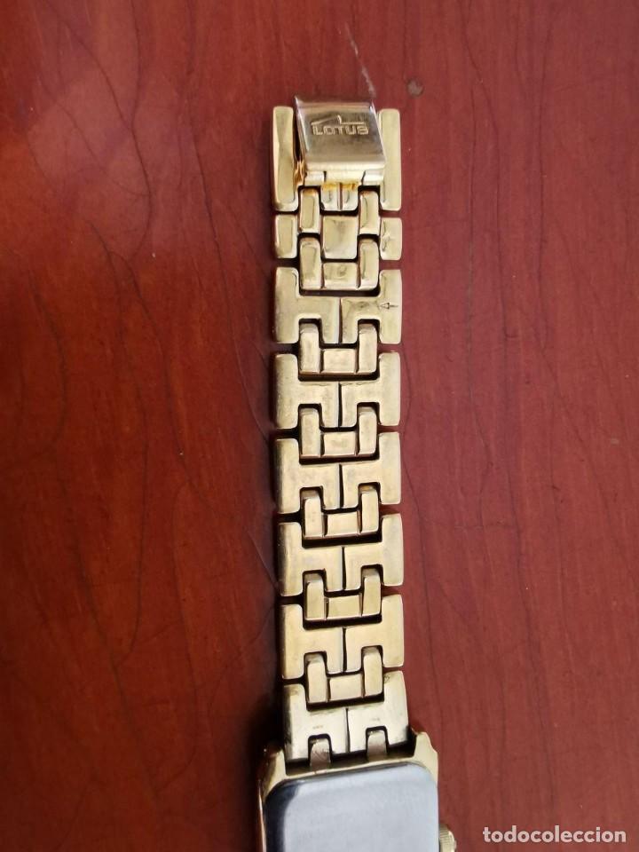 Relojes - Lotus: Reloj de señora de cuarzo chapado de oro con correa chapada de oro, funcionanado, numeros romanos - Foto 5 - 214268847
