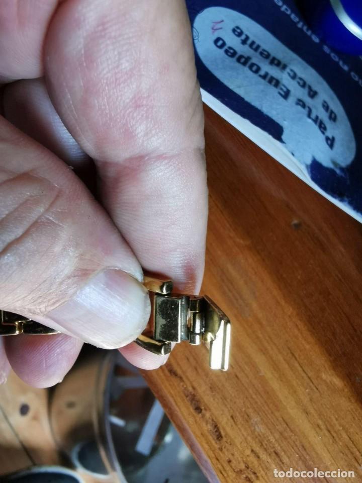 Relojes - Lotus: Reloj de señora de cuarzo chapado de oro con correa chapada de oro, funcionanado, numeros romanos - Foto 7 - 214268847