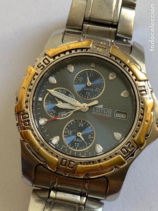 Relojes - Lotus: Reloj LOTUS QUARTZ DAY DATE Y MES MULTIFUNCTION WATER RESISTANT 100M - Foto 2 - 217908668
