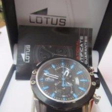 Relojes - Lotus: RELOJ CRONÓGRAFO LOTUS DE QUARTZ CON CALENDARIO EN SU ESTUCHE Y PAPELES. Lote 218614346