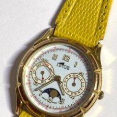 Relógios - Lotus: RELOJ LOTUS DAY DATE FACE LUNAR QUARTZ SWISS MADE. Lote 229592145