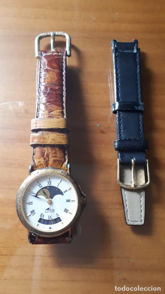 RELOJ DE PULSERA DE CABALLERO FASE LUNAR LOTUS - FUNCIONANDO !!! (Relojes - Relojes Actuales - Lotus)